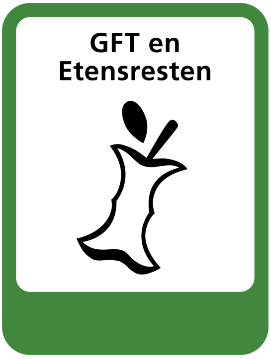 pictogram gft en etensresten